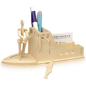 Dřevěné skládačky 3D puzzle Stojánek na tužky Rybaření S014