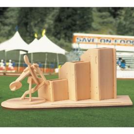 Dřevěné skládačky 3D puzzle Stojánek na tužky Hod diskem
