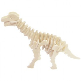 Dřevěné 3D puzzle skládačka - dinosauři Brachiosaurus