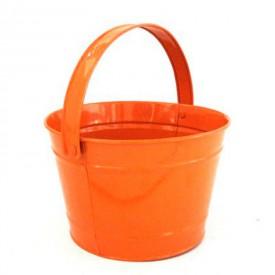 Kovový kyblík oranžový