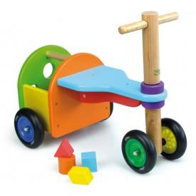 Hračky Vilac - Dřevěné odrážedlo třikolka s vhazováním