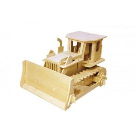 RoboTime - Dřevěná stavebnice - buldozer na dálkové ovládání