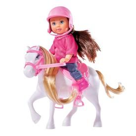 SIMBA Panenka Evička s bílým poníkem