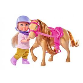 SIMBA Panenka Evička s béžovým poníkem