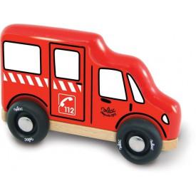 Dřevěná hračka Vilac - Dřevěné hasičské auto