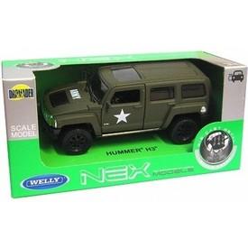 Welly  Hummer H3 Armor Squad  model 1:34 zelený