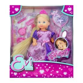 SIMBA Panenka Evička Rapunzel, extra dlouhé vlasy s růžovou korunkou