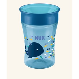 NUK Magic Cup s pitným okrajem 230ml modrá