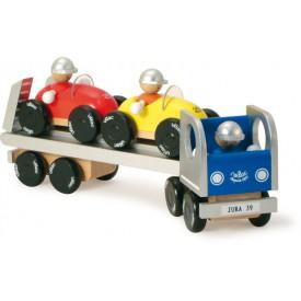 Dřevěná hračka Vilac - Nákladní auto s auty