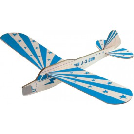 Stavebnice dřevěného házecího letadla - modré házedlo