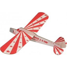 Stavebnice dřevěného házecího letadla - červené házedlo