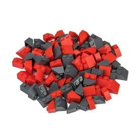 L-W TOYS Kreativní set Střešní prvky červená a tmavě šedá 100 ks