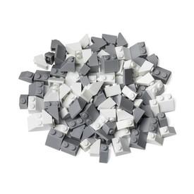 L-W TOYS Kreativní set Střešní prvky bílá a světle šedá 100 ks