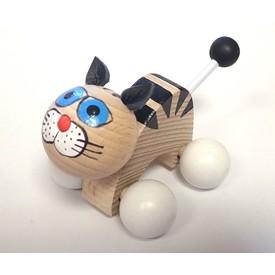 CEEDA CAVITY Kočka na kolečkách bílé packy