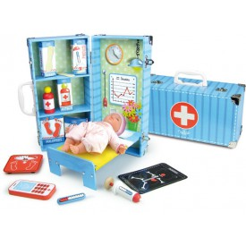 Dřevěné hračky Vilac - Zdravotnický set v kufříku