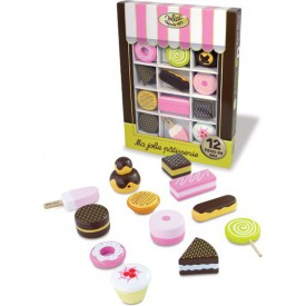 Dřevěné hračky Vilac - Set dřevěných sladkostí