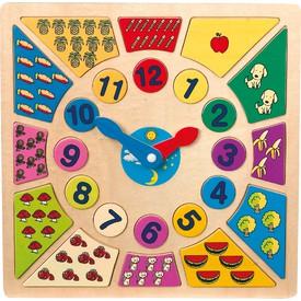 Legler Vkládací výukové puzzle nauč se hodiny