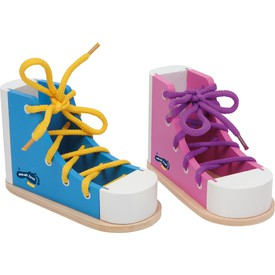 Small Foot Set hry zavaž si tkaničku Bota 2 ks