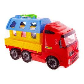 POLESIE Auto plošinové + didaktický domek pro zvířátka modrý