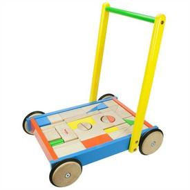 Bigjigs Toys kostky ve vozíku