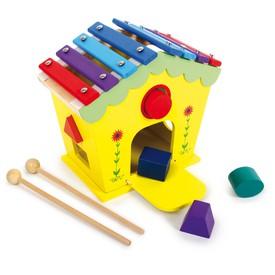 Legler Small Foot dřevěný domeček vkládačka a xylofon