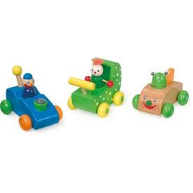 Small Foot 3 dřevěná autíčka závodníci